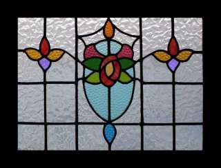 MACKINTOSH ROSE ART NOUVEAU STAINED GLASS WINDOW
