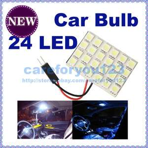 24 SMD 5050 T10 Car interior Dome Door LED Panel Light Lamp