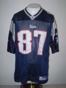 NFL New England Patriots football jersey # 87 givens L