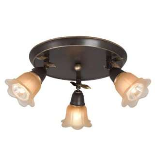Hampton Bay 3 Light 10 in. Bronze Canopy Track Lighting Fixture