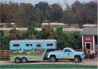 NEW BREYER STABLEMATES PICK   UP TRUCK AND GOOSENECK TRAILER
