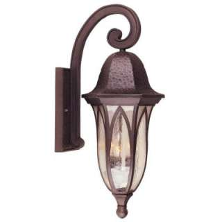 Hampton Bay Wall Mount 3 Light Outdoor Bronze Lantern HD279256 at The