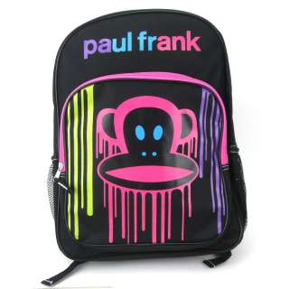 Paul Frank Julius Monkey Face Neon Wall Paint School Backpack Bag