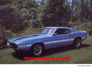 1970 Ford Mustang Shelby Cobra muscle car print
