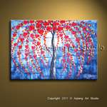 Original Palette Knife Oil Painting Modern Abstract Daisy Flower