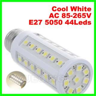 E27 9W 44 Leds 5050 SMD Led Corn Light Bulb Lamp Cool White AC 110