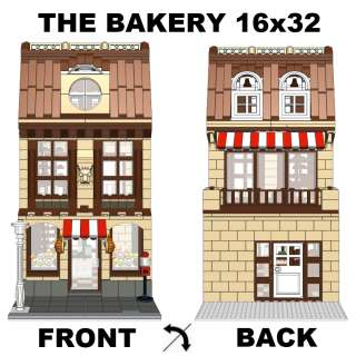 LEGO Custom Modular Building Instruction Bakery   10224 10182