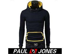 PJ Mens Stylish turtleneck Hoodie Field Coat jacket Unique Design