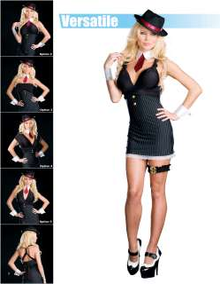 Gangsta Wrap (Versitile) Adult Costume   Includes Dress, hat, collar