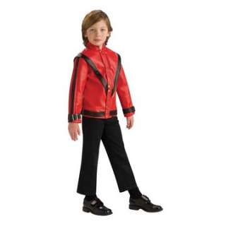 Jackson Thriller Jacket   Leather like red jacket fashioned right