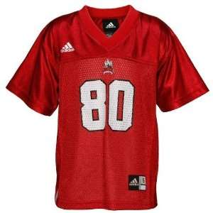 adidas North Carolina State Wolfpack #80 Infant Red Replica Football