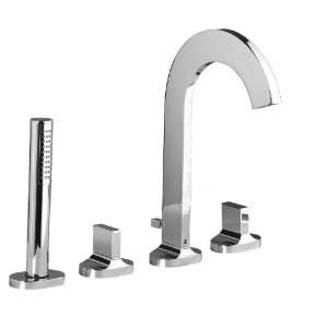 Aquabrass 39518PC Polished Chrome Cut Double Handle Roman