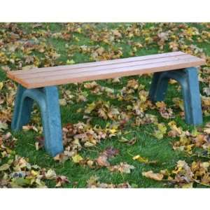 Mizer 4 ft. Commercial Grade Backless Bench Patio, Lawn & Garden