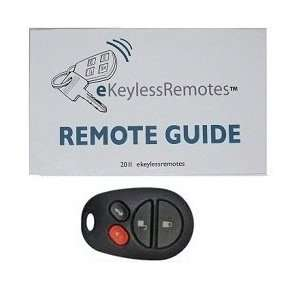 2004 2008 Toyota Camry Solara Keyless Entry Remote Fob Clicker With Do