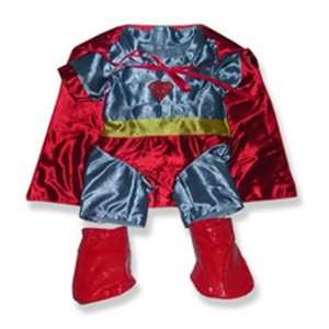 Super Bear Costume w/Cape Outfit Teddy Bear Clothes Fit 14