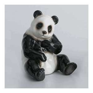 Franz Porcelain Bamboo Song Bird, Panda Bear Figurine, XP1001A