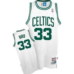 Boston Celtics Larry Bird Adidas White Throwback Replica