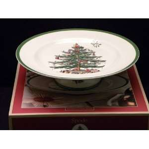 Spode Christmas Tree Footed Cake Stand 10.5