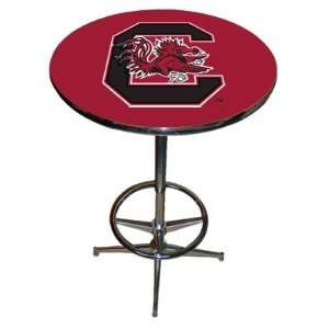 NCAA Team LOGO Chrome Pub Table with Footrest