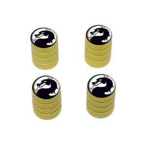 Black on White   Tire Rim Wheel Valve Stem Caps   Yellow Automotive