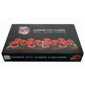 Kansas City Chiefs NFL Checker Set