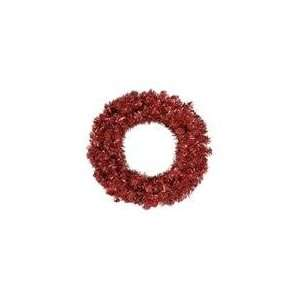 Red Hot Tinsel Artificial Christmas Wreath