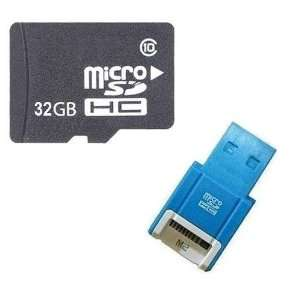 Card with SD Adapter and R10B Micro USB Flash Card Reader / Writer