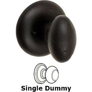 Single dummy sandcast brass egg knob with sandcast brass