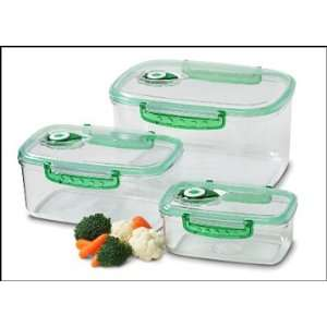 Rectangular Set, Vacuum Food Storage Containers