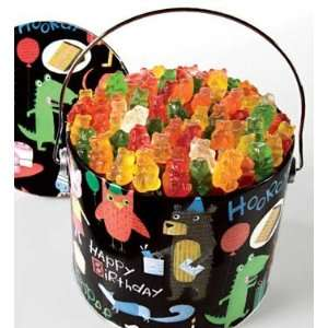 Happy Birthday Gummi Bears Gift  Grocery & Gourmet Food