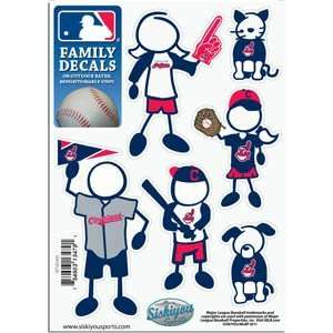 Cleveland Indians 5in x 7in Family Car Decal Sheet