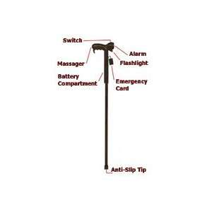 Multi Function Massaging Walking Stick Health & Personal