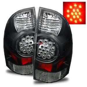 05 08 Toyota Tacoma LED Tail Lights   Black Automotive