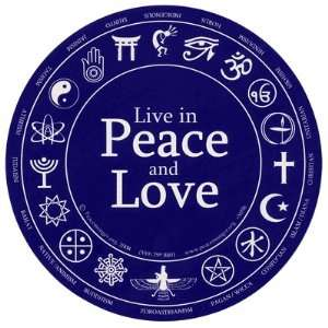 Live in Peace and Love. Bumper Sticker. Automotive