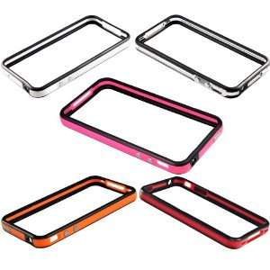 Colors TPU Frame Bumper Case Cover For iPhone 4S S 4G G Metal Buttons