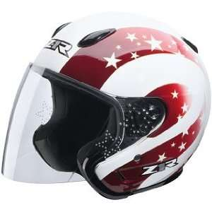 Z1R ACE STARBRIGHT HELMET RED CREAM MD Automotive