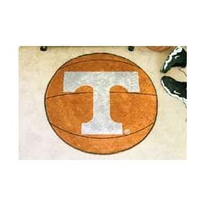 NCAA TENNESSEE VOLUNTEERS BASKETBALL SHAPED DOOR MAT RUG