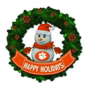 15 NCAA Clemson Tigers Lighted Snowman Artificial