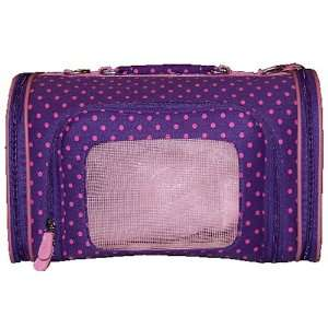 Pet Carrier   Luggage Style   Polka Dot   Purple & Pink