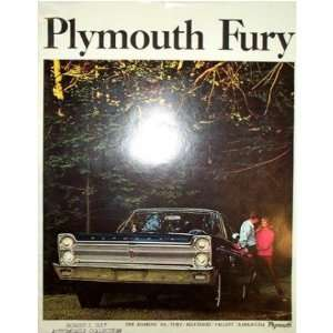 1965 PLYMOUTH FURY Sales Brochure Literature Book