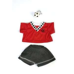 Red Soccer Uniform Outfit Teddy Bear Clothes Fit 14   18