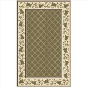 Southport Trellis Green Indoor/Outdoor Rug   5 x 8 Size 5 x 8