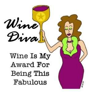 Wine Diva Fabulous Fridge Magnet