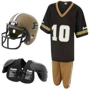 Purdue Boilermakers Youth NCAA Team Helmet and Uniform Set (Medium