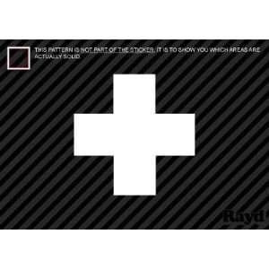 2x) First Aid Cross   Sticker #1   Decal   Die Cut