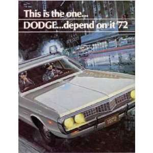 1972 DODGE POLICE CAR Sales Brochure Literature Book