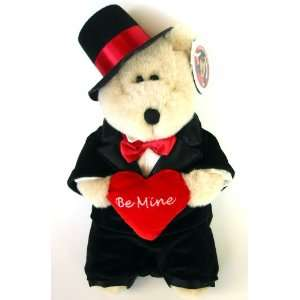 Starbucks BE MINE Valentine Love Bearista Bear in Tuxedo Toys & Games