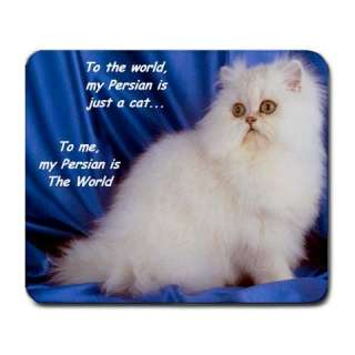 PERSIAN KITTY CAT CATS COMPUTER MOUSE MAT PAD MOUSEPAD