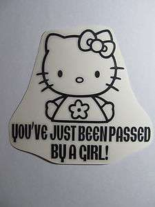 CAR decal BUMPER sticker HELLO KITTY ford HONDA gmc truck TOYOTA suv
