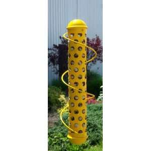 Spiral Whole Peanut Bird Feeder   Squirrel proof, Yellow